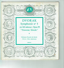 33T 25cm DVORAK Disque SYMPHONIE N°5 Orch ZURICH Otto ACKERMANN Classique - GID