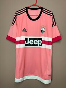 Juventus 2015-2016 Away Pink Rare Football Soccer Shirt Jersey size XL