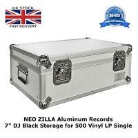 "1 X NEO Aluminum Silver Vinyl 7"" Storage for 500 Records Single DJ Carry Case"