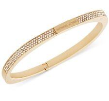Michael Kors Gold-Tone Pavé Logo Hinged Bangle Bracelet MKJ5503710