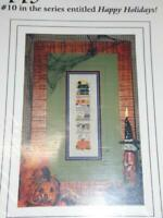 A STITCH IN TIME - Counted Cross Stitch Chart - HAPPY HOWL-O-WEEN SAMPLER