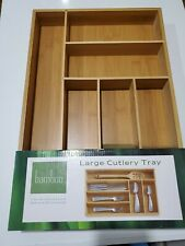 New listing Bamboo Large Cutlery Tray