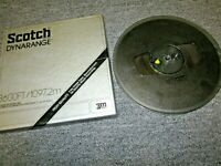 3600 Ft SCOTCH 214 DYNARANGE Recording Tape Polyester USED reel to open