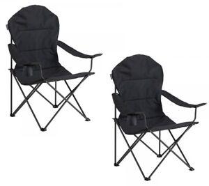Vango Divine Folding Padded Camping Chair - Grey X2 (PAIR)