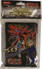 Yu-Gi-Oh Pack 50 Sleeves Protège Cartes Yami Yugi Slifer Neuf Scellé Blister