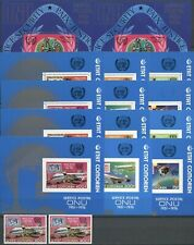 100 Jahre UPU, Space, Eisenbahn, Flugzeug - Komoren - A/B ** MNH 1974