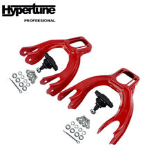 Red Adjustable L/R Front Upper Control Arm Camber Kit For Honda Civic EG 92-95