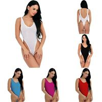 Solid Color One-Piece Swimsuit Bikini Monokini For Women Swimwear Bathing Suit