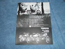"1969 Yamaha Enduro Vintage Ad ""Discover the Family"" Trailmaster"