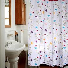 Flowers Floral Pattern Design Design Bathroom Fabric Shower Curtain 180x180cm