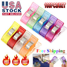 20-200Pcs Magic Sewing Clip Clamp for Craft Quilting Sewing Knitting Crochet New
