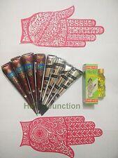 Henna Starter Kit 4 Natural Henna +4 Black Henna Cones Tattoo Temporary Body Art