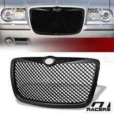 For 2005-2010 Chrysler 300 300C Matte Black Mesh Front Bumper Grill Grille Guard