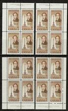 CANADA #501 6¢ Sir Isaac Brock Match Set Plate Blocks MNH