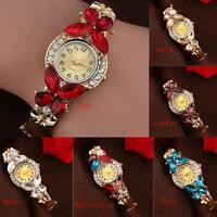 Women Crystal  Fashion Rhinestone Butterfly Bracelet Quartz Watch Wristwatch Hot