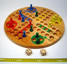 Brettspiel Ludo extra gross aus Holz BIG XXL Würfelspiel für groß und klein