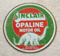 Sinclair OPALINE Motor Oil Vintage Style Metal Signs 12'' Man Cave Decor Snapon