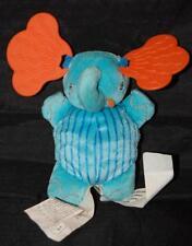 """IKEA Barnslig 5"""" Plush blue Orange Teether Stuffed Lovey Baby Soft Toy 18937"""