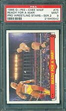1985 OPC WWF WRESTLING 2ND SERIES #75 HULK HOGAN / KING KONG BUNDY PSA 9 MINT!!