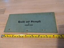 Charles Atlas Lesson 9 - Health and Strength. Original Piece. FREE UK POSTAGE.