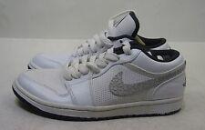 Nike Air Jordan 1 Sombrero Bajo 338145-110- BLANCO/antracita Size 8