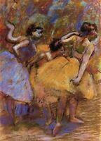 Edgar Degas Ballet Dancers Fine Art CANVAS Print Repro Wall Decor Small 8x10