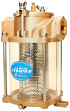 SEA WATER STRAINER, 1.5 inch inlet, Bronze Casting, Stainless Basket, Zinc Anode