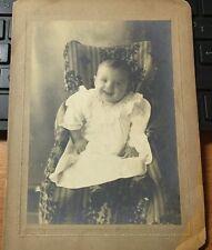 "EARLY 1900'S BABY PHOTOGRAPH - PHOTOGRAPHER - B.F. WOODWARD 5""X7"" B&W"