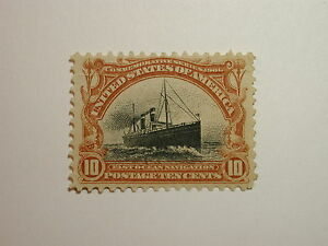 Scott #299 10 cent Pan-American Expo Issue – hinged Very Well Centered, Good