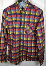 Primark Men's Multicoloured Bright Check Shirt - Size Small