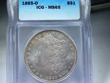 1885-O Morgan silver dollar  MS-65