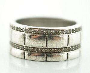 Mächtiger 925er Silber Ring Sterlingsilber Zirkonia Vintage Gr. 60