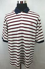 FAIRWAY & GREENE Overbrook Golf Club Red/Whit/Blue Striped Polo Shirt Men's XL
