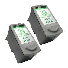 2 BLACK PG-40 Ink Cartridge for Canon MX 300 310 JX 200 210 300 500 510 Printer