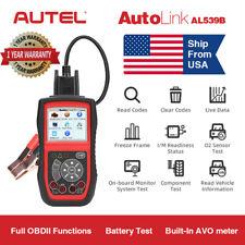 Autel Autolink AL539B OBD2 Auto Code Reader Diagnostic Tool Battery Test US Ship