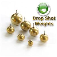 Brass Drop Shot Weights Round Sinkers Pike Perch Chub Soft Lure Fishing