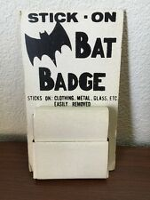 Batman Stick-On Bat Badge Lot Of 50 With Display 1960's Custom? Super Rare