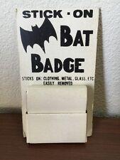 Batman Stick-On Bat Badge Lot Of 50 With Display 1960's Custom? Super Rare