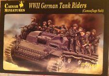 Soldatini 1/72 WWII GERMAN TANK RIDERS (CAMOUFLAGE suit)- Caesar Miniatures H099