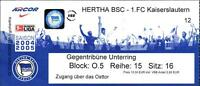 Ticket BL 2004/2005 Hertha BSC - 1. FC Kaiserslautern, 06.03.2005