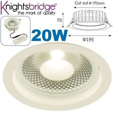 LED 20W Recessed Cool White Dimmable Shop Ceiling Down Lamp Spot Light Fitting