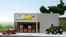 SUBWAY RESTAURANT Plastic Building KIT 76x159x57mm HO 1/87 scale SUMMIT SW-001