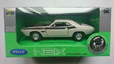 1970 Dodge Challenger T/A 1:34-1:39 White Welly Metal Car Nib