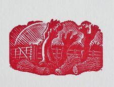 Eric Ravilious (1903-1942) Original woodcut from block,...