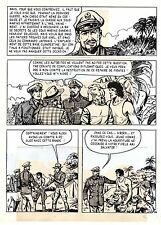 TAROU CONTRE LES SOLDATS JAPONAIS (BOB DAN) PLANCHE ORIGINALE AREDIT  PAGE 37