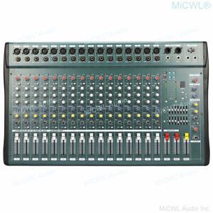 MiCWL 16 Channel Audio Mixer Mixing Console Processador USB XLR LINE 48V Phantom