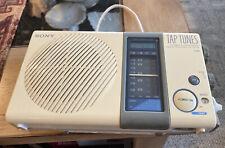 Vintage Sony Tap Tunes Icf-S77W Tv Hi Tv Low Fm Am Shower Radio 4 Band Receiver