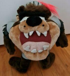 1997 Looney Tunes Tasmanian Taz Devil Knight Plush Toy   RARE   90s VINTAGE