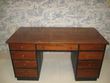Ethan Allen Desk Double Pedestal American Impressions Cherry & Black 9441