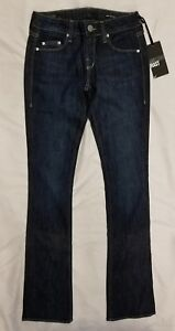 *NWT*William Rast Women's Blair Baby Bootcut Jeans In Blue Size 25